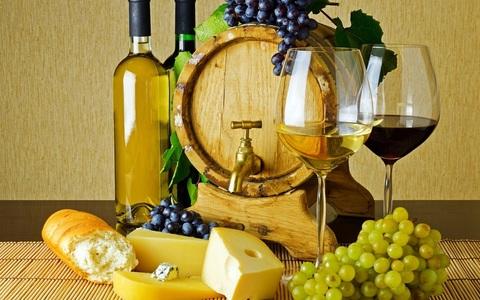 Алмазная Мозаика + Багет 30x40 Натюрморт с вином