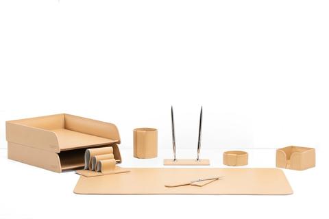 Письменный набор для руководителя 9 предметов из кожи naturale