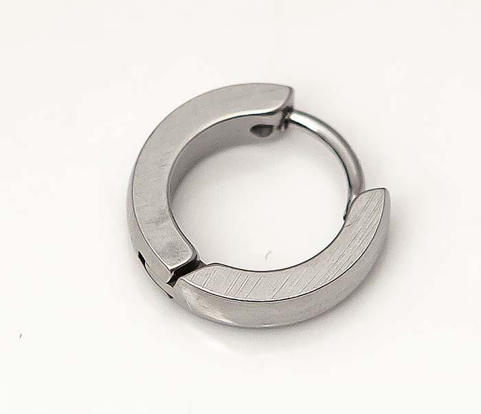ER458-1 Узкие серьги кольца из стали