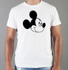 Футболка с принтом Микки Маус (Mickey Mouse) белая 006
