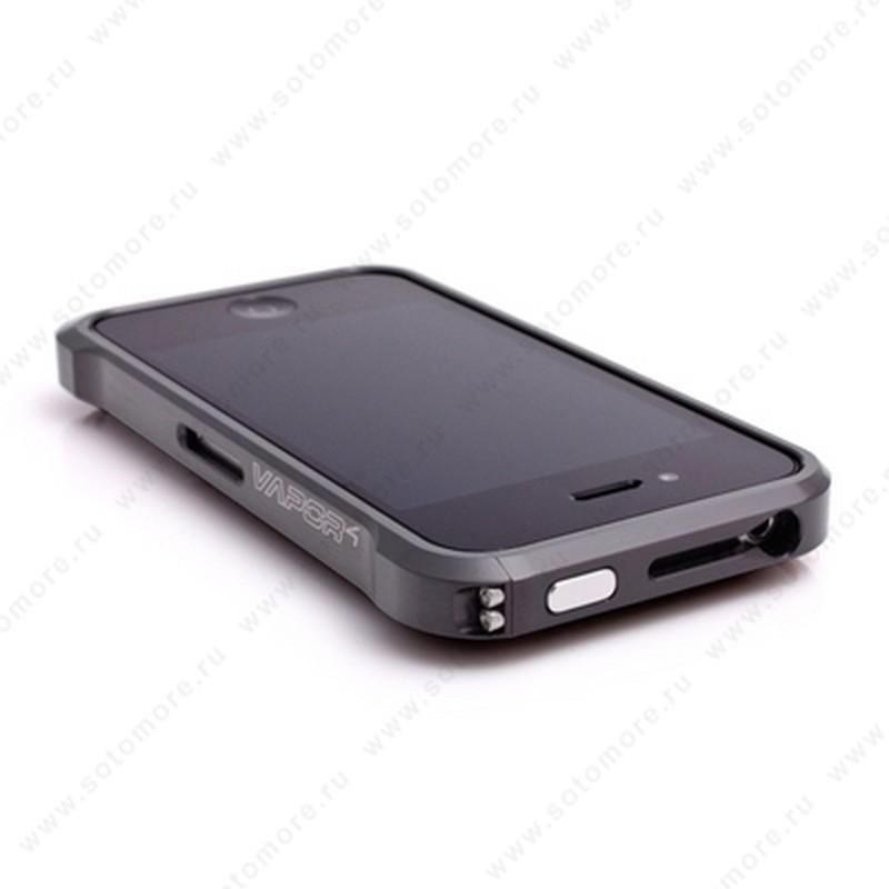 Бампер ELEMENT CASE Vapor 4 алюминиевый для iPhone 4s/ 4 графит/графит