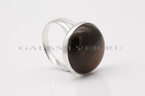 Кольцо с бычьим глазом из серебра 925