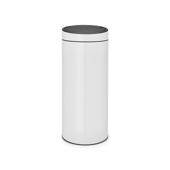 Мусорный бак Touch Bin New (30 л), Белый, арт. 115141 - фото 1