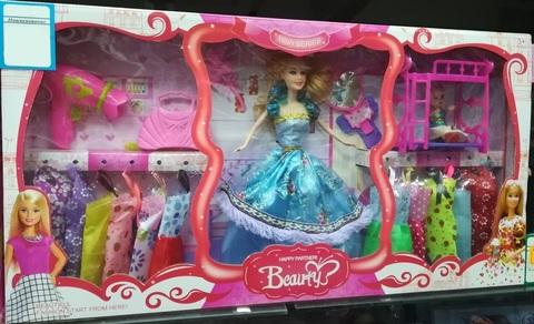 Кукла принцесса в голубом платье
