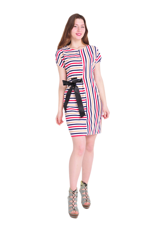 Платье Арина цветные полосы
