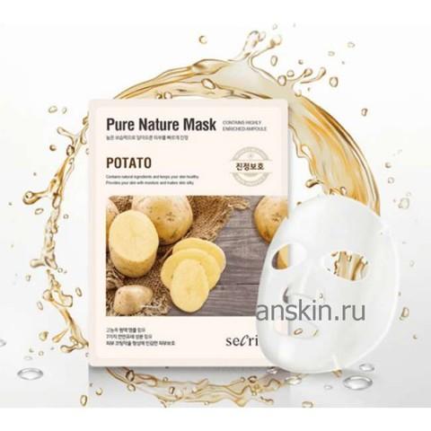 Маска для лица тканевая Secriss Pure Nature Mask Pack-Potato 25мл