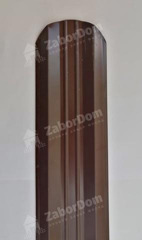 М-образный штакетник металлический 95 мм RAL 8017 двухсторонний 0.5 мм