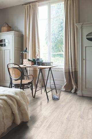 Reclaimed white patina Oak | Ламинат QUICK-STEP CL1653