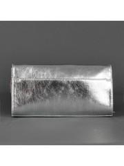 с986с Клатч жен серебро искусственный