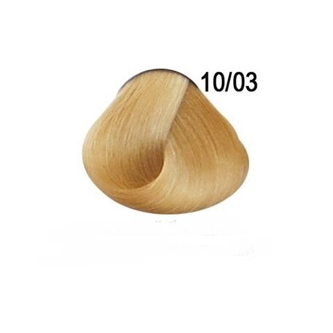 Перманентная крем-краска для волос Ollin 10/03 светлый блондин прозрачно-золотистый