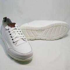 Белые кроссовки сникерсы мужские Faber 193909-3 White.