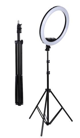 Штатив-стойка для крепления кольцевой лампы и смартфона