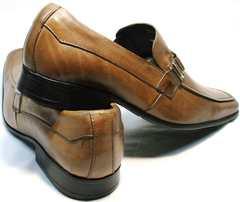 Кожаные туфли мужские коричневые Mariner 12211 Light Brown.