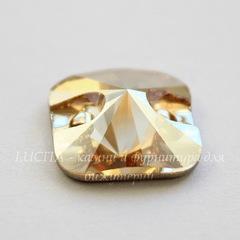3201 Пришивные стразы Сваровски квадратные Crystal Golden Shadow (12 мм)
