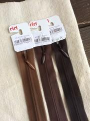 Молния потайная Т3, Riri, 22см, светло-коричневый