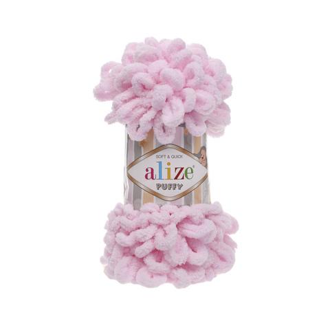 Купить Пряжа Alize Puffy Код цвета 031 Нежно-розовый | Интернет-магазин пряжи «Пряха»