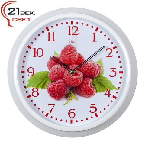 3024-75W (10) Часы настенные круг d=30см, рама белая