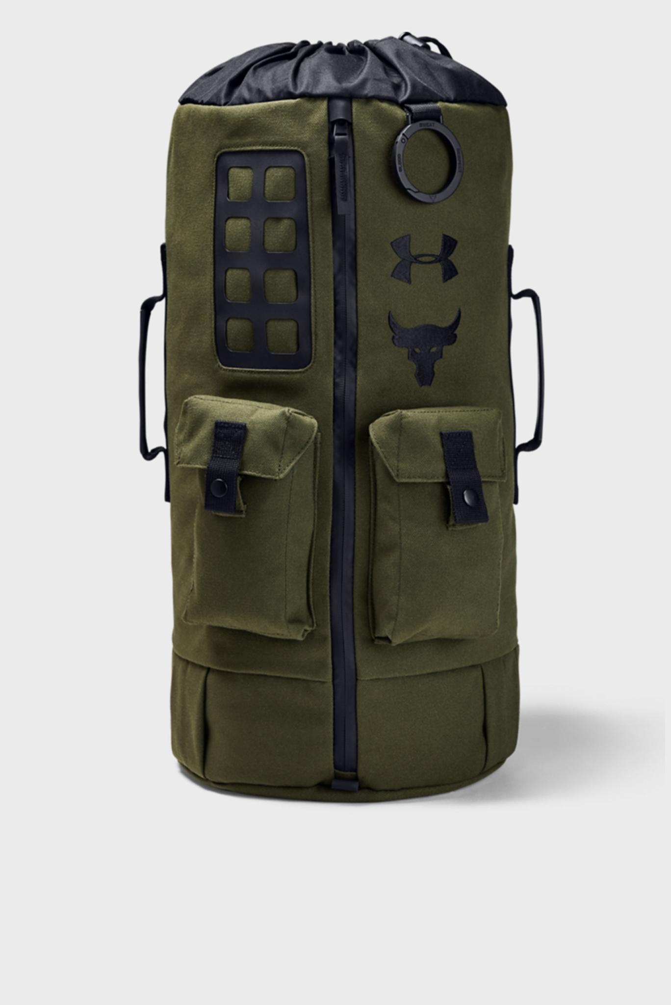 Мужской зеленый рюкзак UA Project Rock 60 Gym Bag-GRN Under Armour