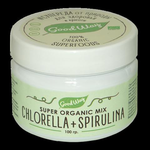 Хлорелла+спирулина микс, 100 гр. (Белогуб)