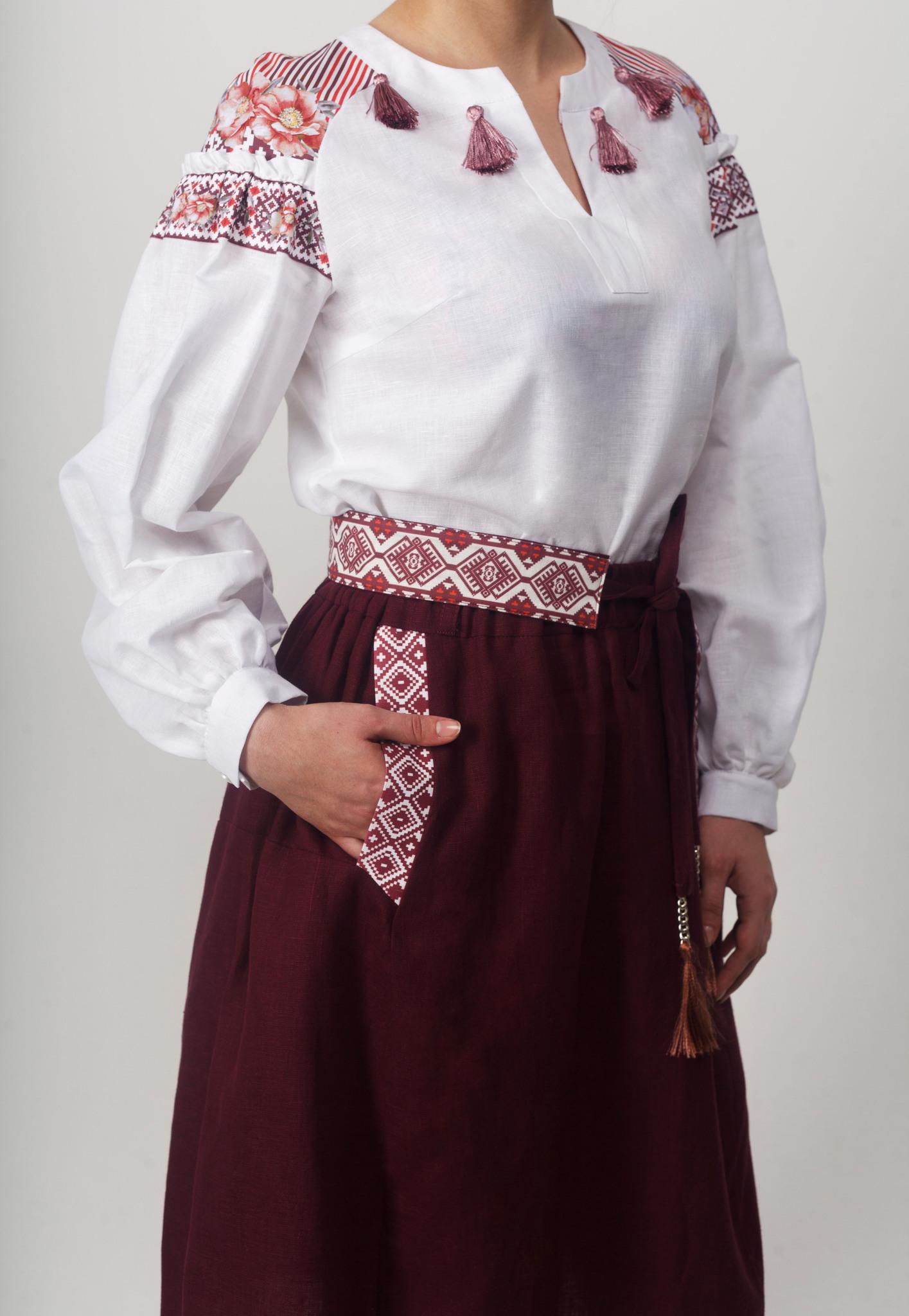Блуза Дивная 02 вид спереди