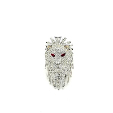 Кольцо со Львом  из серебра с цирконами от APM MONACO