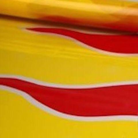Пленка полипропиленовая цветная Пламя 70см х 7м Цвет: красно-желтый