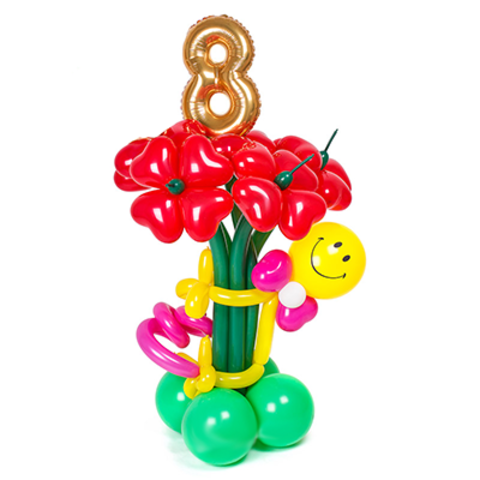 Букет из шаров на 8 марта