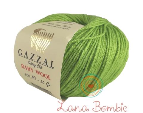 Пряжа Gazzal Baby Wool салатовый 821