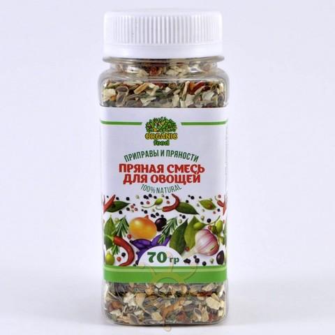 Пряная смесь для овощей в пэт-банке Organic food, 70г
