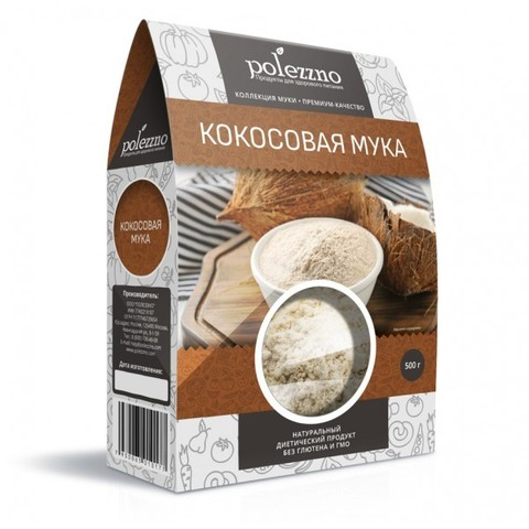 Мука кокосовая Polezzno, 500г