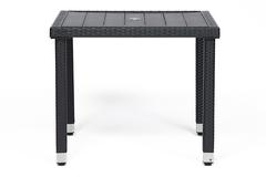 Обеденный сет (стол+4стула) (mod. 210036) — черный (ткань: DB-16 (серый)