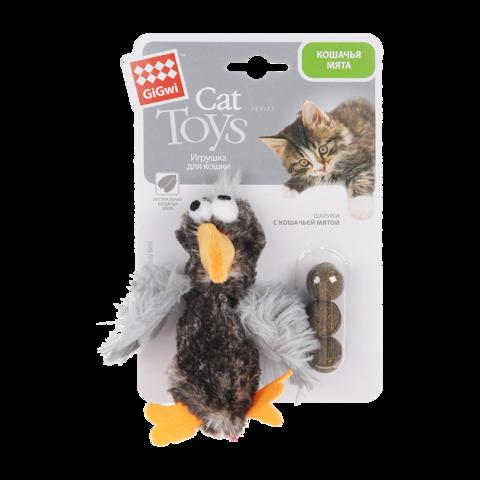 GiGwi Игрушка для кошек Утка с кошачьей мятой