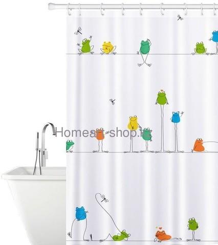 Тканевая штора для ванной комнаты