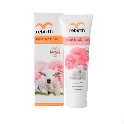 Крем для рук с экстрактом плаценты и маслом розы Rebirth Placenta Wild Rose Hand Cream 75мл