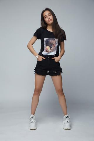 шорты джинсовые женские с бахромой купить