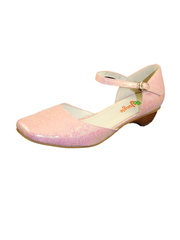 Туфли праздничные для девочки розовые фото