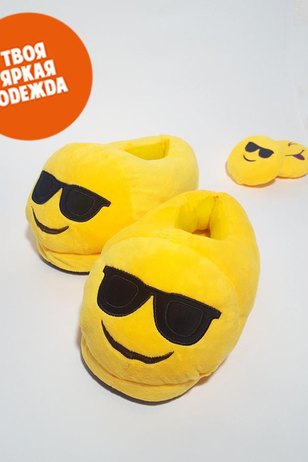 """Тапочки Тапочки Emoji """"Крутой"""" крутой_СЗ.jpg"""