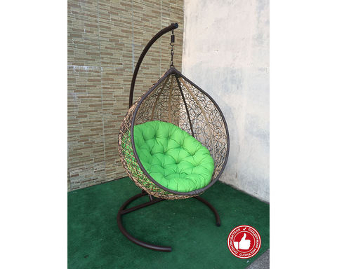 Плетеное кресло Арриба бежево-коричневое