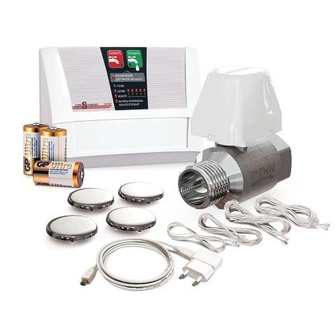 Комплект защиты от протечек воды Аквасторож Эксперт 1*25 PRO (расширенная комплектация)