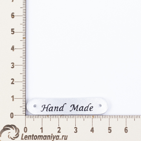 "Бирка пришивная из экокожи ""Hand Made"" N2 (3 шт.)"