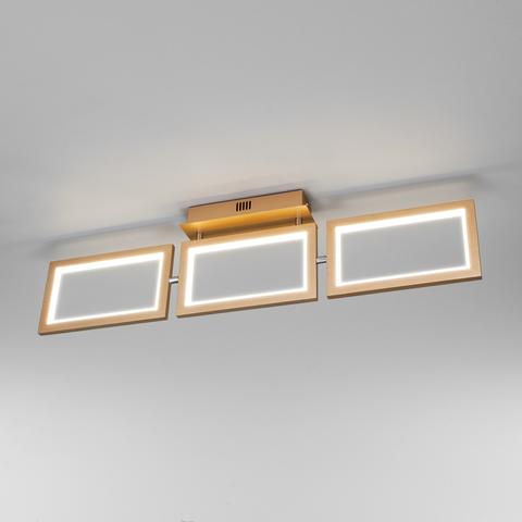 Потолочный светодиодный светильник 90223/3 матовое золото