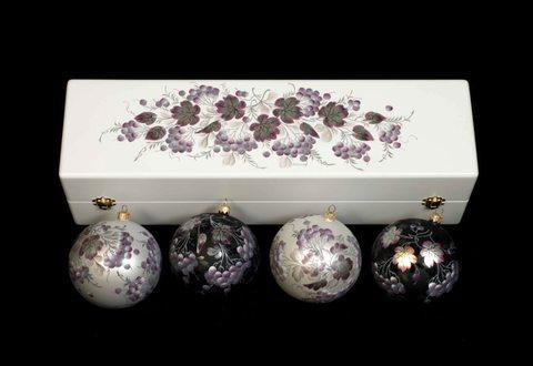 Набор из 4 елочных шаров в шкатулке SET04D-667785807