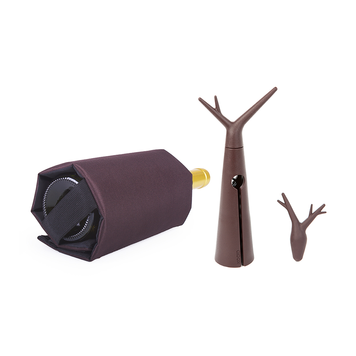 Набор для вина Koala Forest, коричневый набор для приготовления мохито и кайпириньи koala