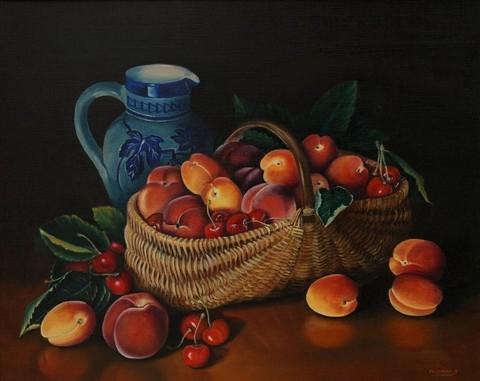 Алмазная Мозаика 40x50 Корзина фруктов и кувшин (арт. S492)