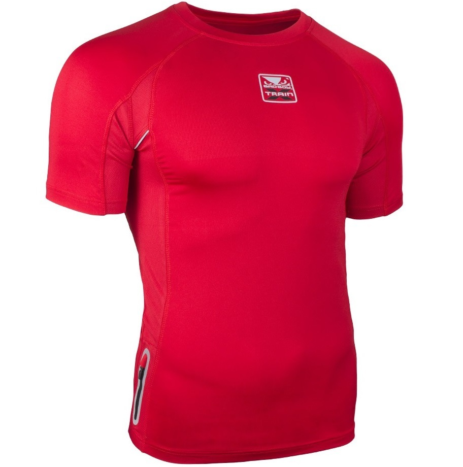Термобелье/Рашгарды Рашгард Bad Boy X-Train Compression T-shirt Short Sleeves - Red 1.jpg