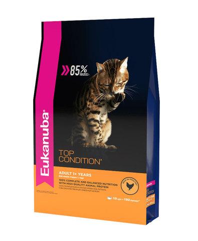 Eukanuba Cat корм с домашней птицей для взрослых кошек 400г