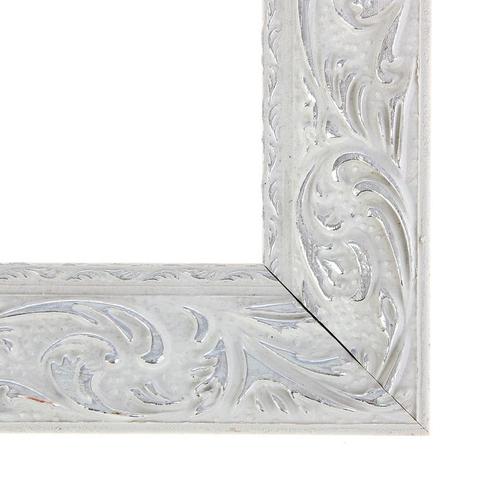 Рама для зеркал и картин 31х40х4 см, цвет бело-серебристый