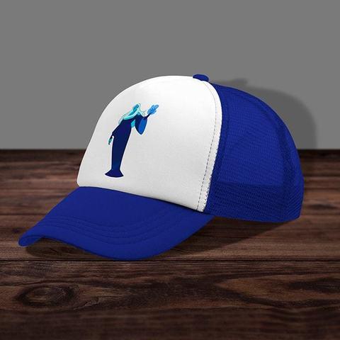 Синяя кепка с сеткой