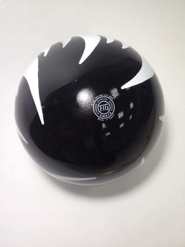 Мяч AMAYA 18,5 см мраморный черный для художественной гимнастики