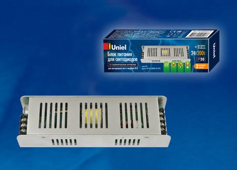 UET-VAS-200B20 24V IP20 Блок питания,200Вт. Металлический корпус. TM Uniel